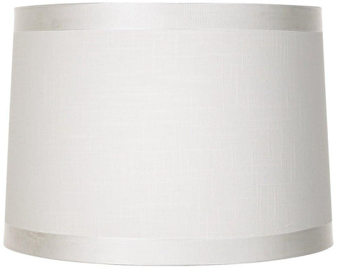 Image of Off White Fabric Drum Shade 13x14x10 (Spider)
