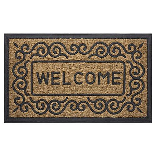 "Achim Home Furnishings COM1830SC6 Scrolls Coco Door Mat, 18 by 30"" - zingydecor"