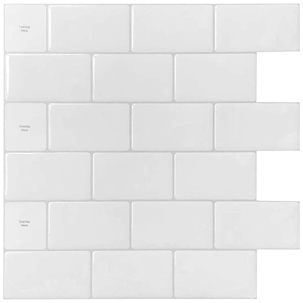 10-Sheets Peel and Stick Tile for Kitchen Backsplash, 12