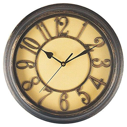 Benail 12 Inch Retro Non Ticking Silent Quartz Decorative Wall Clock - zingydecor