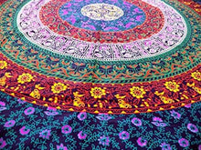 Load image into Gallery viewer, Marubhumi Hippy Mandala Bohemian Tapestries, Indian Dorm Decor, Psychedelic Tapestry Wall Hanging Ethnic Decorative Tapestry (85 x 55 Inches, Purple Multi) - zingydecor
