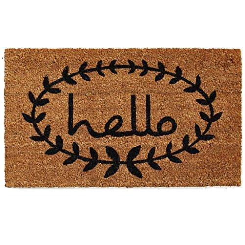 Home & More 121812436 Calico Hello Doormat, 24