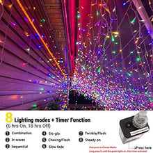 Load image into Gallery viewer, Toodour LED Icicle Lights, 360 LED, 29.5ft, 8 Modes, Window Curtain Fairy Lights with 60 Drops, Led Christmas Lights, Icicle Fairy Twinkle Lights for Holiday, Party, Wedding Decorations (Pure White)