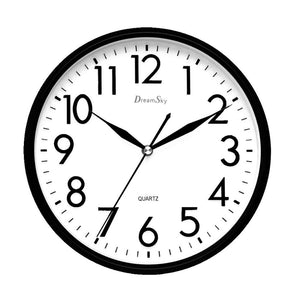 DreamSky 10 inches Silent Non-Ticking Quartz Wall Clock Decorative Indoor Kitchen Clock ,3D Numbers Display ,Battery Operated Wall Clocks