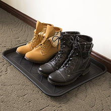 "Load image into Gallery viewer, Stalwart ECO Friendly Utility Boot Tray Mat, 20"" x 15""/Small, Black - zingydecor"