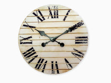 Load image into Gallery viewer, TutisD White Rustic Farmhouse Decor For The Home-Rustic Home Decor-Bedroom Wall Decor-Office Decor-Battery Operated Wall Clock With Roman Numerals-Clocks For Living Room Decor