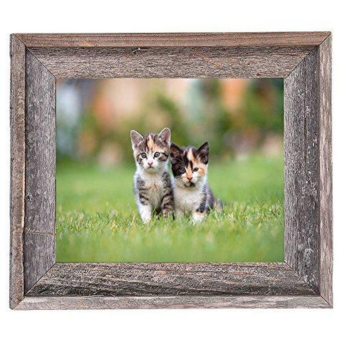 Image of BarnwoodUSA Rustic 8x10 Inch Signature Picture Frame - 100% Reclaimed Wood, Weathered Gray