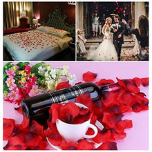 Load image into Gallery viewer, Silk Rose Petals 2000 Pcs Red Artificial Flower Petals for Valentine Wedding Partys Decoration - zingydecor