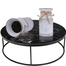 "Load image into Gallery viewer, HIDERLYS 7.5"" High Decorative Vase with Unique Heart-Shaped and Rope Design, Galvanized Finish- Rustic Decorated for Living Room, Bedroom, Kitchen (Grey)"