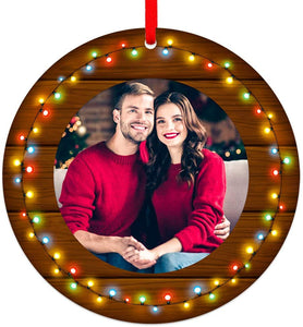 "Our First Christmas as Mr & Mrs 3"" Our First Christmas Frame Ornament"