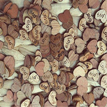 Load image into Gallery viewer, 100pcs Rustic Wooden Love Heart Wedding Table Scatter Decoration Crafts - zingydecor