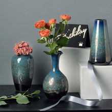 Load image into Gallery viewer, CHP Ceramic Flower Vases Set of 3, Special Design Style of Flambed Glazed,Decorative Modern Floral Vase for Home Decor Living Room Centerpieces and Events