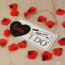 Load image into Gallery viewer, LEORX Wooden Wedding Countdown Chalkboard Sign - zingydecor