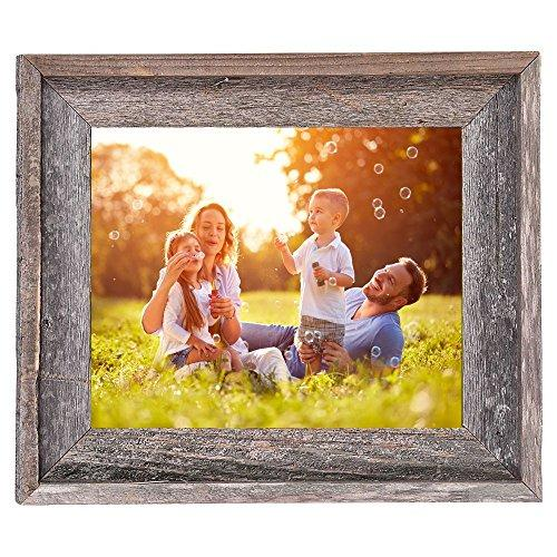BarnwoodUSA Rustic 8x10 Inch Signature Picture Frame - 100% Reclaimed Wood, Weathered Gray - zingydecor