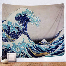 Load image into Gallery viewer, Tenaly Tapestry Wall Hanging, Great Wave Kanagawa Wall Tapestry with Art Nature Home Decorations for Living Room Bedroom Dorm Decor in 51x60 Inches - zingydecor