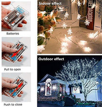 Load image into Gallery viewer, Christmas Lights, 40 LED Snowflake String  Fairy Lights for Home, Party, Christmas, Wedding, Garden, Christmas Garden Patio Bedroom Decor Indoor Outdoor Celebration Lighting - zingydecor