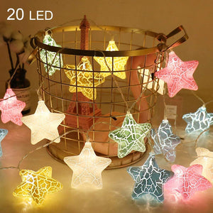 Twinkle Star 100 LED Star String Lights for Home, Party, Christmas, Wedding, Garden, Warm White