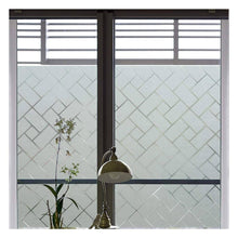 Load image into Gallery viewer, Privacy Window Film Non-Adhesive Glass Film Frosted Window Film Privacy Glass Film for Home &Office Anti UV/Heat Insulation/Privacy (17.7 by 78.7 inches) - zingydecor