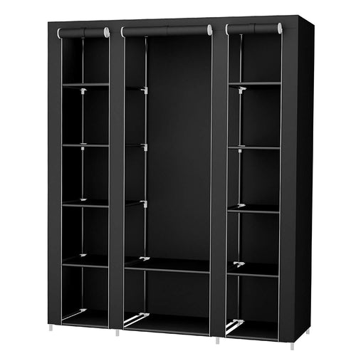 59 Inch Closet Organizer Wardrobe Closet Portable Closet shelves, Closet Storage Organizer with Non-woven Fabric, Quick and Easy to Assemble, Extra Strong and Durable - zingydecor
