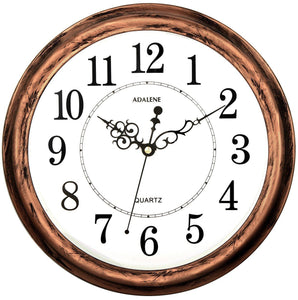 Adalene 13 Inch Large Non Ticking Silent Wall Clock Decorative, Battery Operated Quartz Analog Quiet Wall Clock, For Living Room, Kitchen, Bedroom - zingydecor