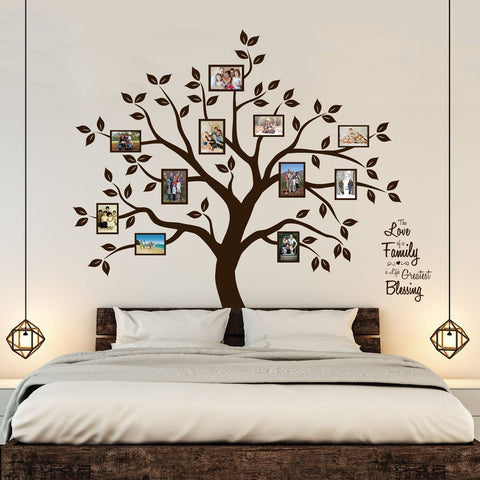 Image of Timber Artbox Beautiful Family Tree Wall Decal with Quote - The Only Décor You Need for Living Room &...