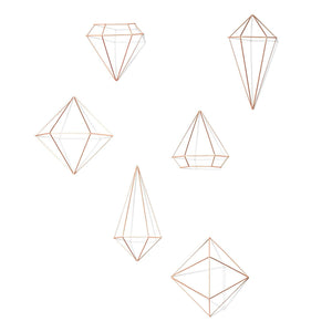 Umbra Prisma Decorative Accents, Set of 6, Copper