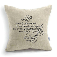 Load image into Gallery viewer, CoolDream 18 Inch Quote Words Square Decorative Cotton Linen Cushion Cover Throw Pillowcase - zingydecor