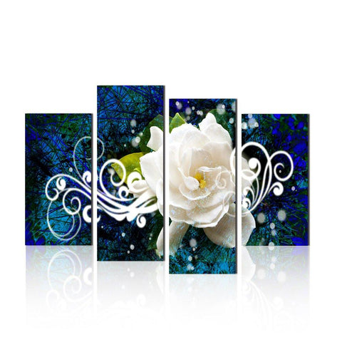 Image of Flower Picture Canvas Oil Painting Wall Art Prints Home and Office Decor (12x16inchx2pcs, 12x24inchx2pcs)