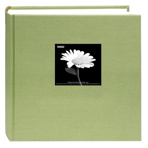 Image of Fabric Frame Cover Photo Album 200 Pockets Hold 5x7 Photos, Sage Green