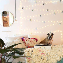 Load image into Gallery viewer, 33Ft/66Ft 200leds Waterproof Copper Wire Starry String Fairy Lights USB Powered Hanging for Bedroom Indoor Outdoor Warm White Ambiance Lighting for Patio Wedding Decor (1, Silver wire-Warm white-66ft) - zingydecor
