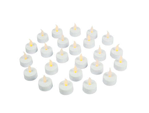 Image of Flameless LED Tea Light Candles, Realistic, Battery Powered, Unscented LED Candles, Fake Candles, Tealights (24 Pack) - Vont