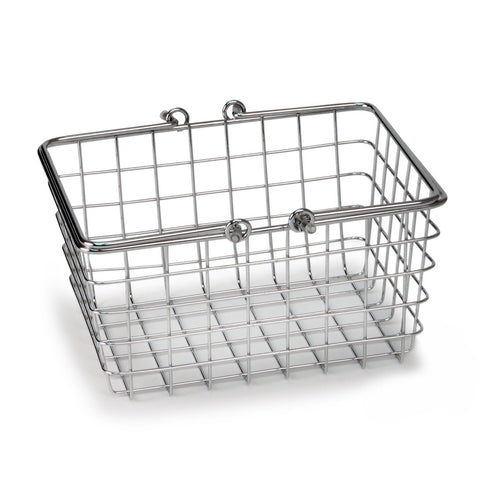 Image of Spectrum Diversified Wire Storage Basket, Small, Chrome