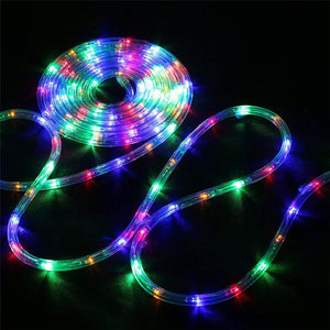 Bebrant LED Rope Lights Battery Operated String Lights-40Ft 120 LEDs 8 Modes Outdoor Waterproof Fairy Lights Dimmable/Timer with Remote for Garden Camping Party Decoration (Multi-Color) - zingydecor