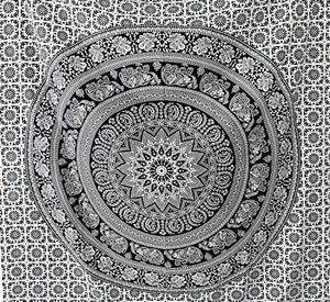 "Popular Handicrafts tapestry wall hangings Black and White Hippie Mandala Tapestry wall art Collage dorm Beach Throw Bohemian tapestry Wall decor Boho Bedspread 85""x89"" - zingydecor"