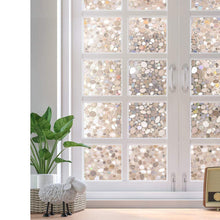 Decorative Window Film Non-Adhesive, Window Privacy Film for Glass Windows, Frosted Window Clings for Home Office Privacy & UV Protection, Glue-Free (3D Pebbles, 17.5 x 78.7 inches) - zingydecor