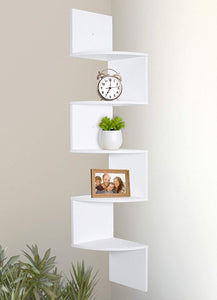 Greenco 5 Tier Wall Mount Corner Shelves - zingydecor
