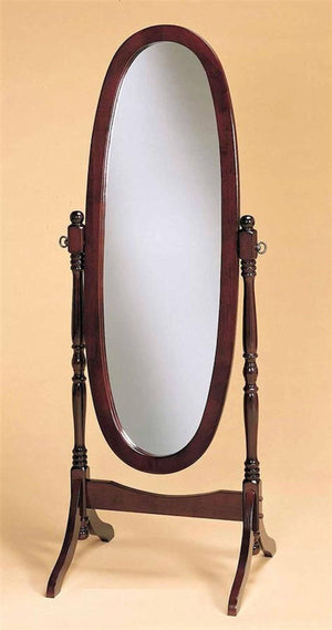 Swivel Full Length Wood Cheval Floor Mirror, Cherry Finish New