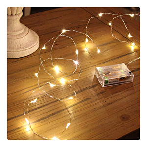 Sanniu Led String Lights, Mini Battery Powered Copper Wire Starry Fairy Lights, Battery Operated Lights for Bedroom, Christmas, Parties, Wedding, Centerpiece, Decoration (5m/16ft Warm White) - zingydecor