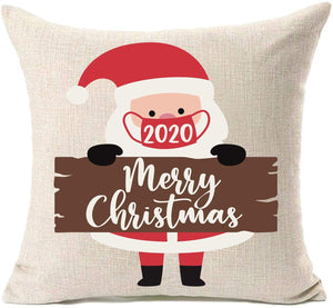 Merry Christmas Cotton Linen Decorations Pillow
