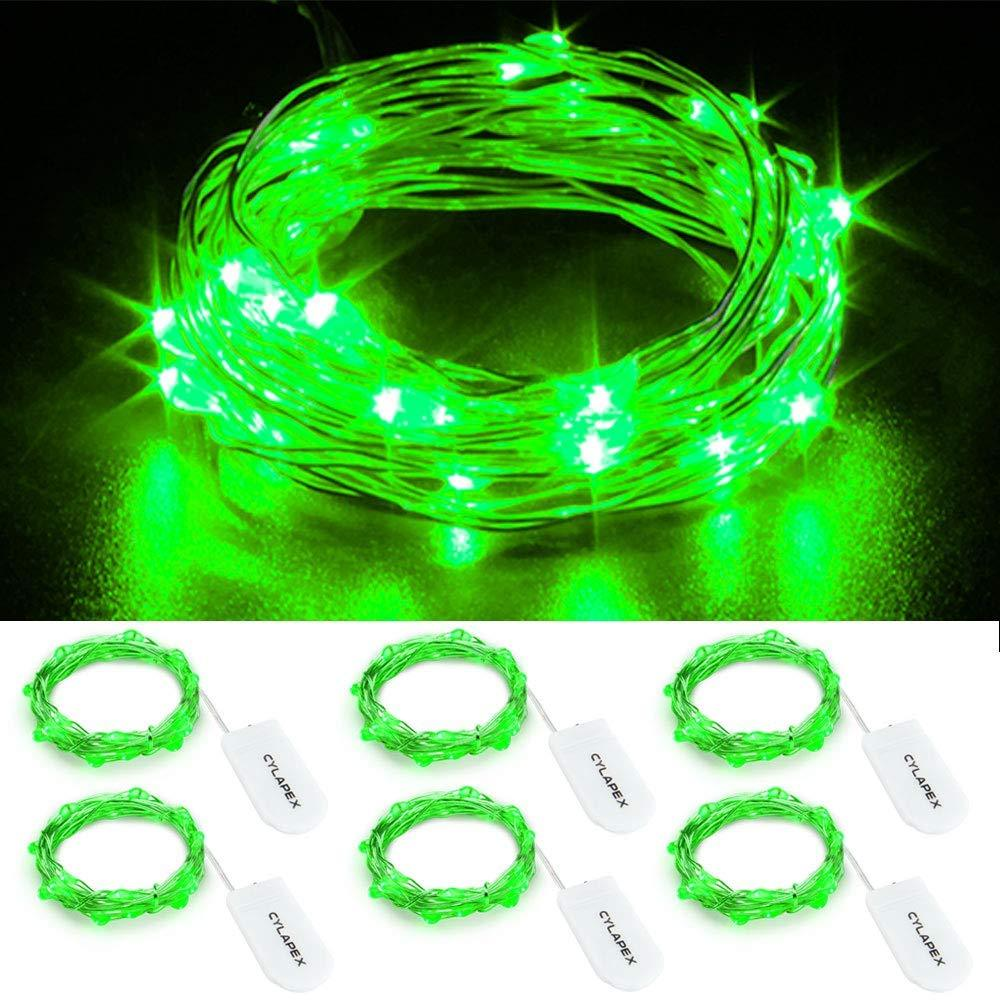 CYLAPEX Pack of 6 LED Starry String Lights with 20 Micro LEDs on 3.3feet//1m
