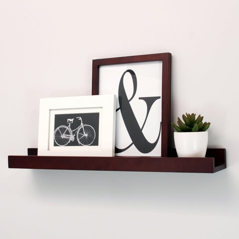 Image of Kiera Grace Edge Picture Frame Ledge, 23-Inch by 4-Inch, 8 lbs Weight Capacity, Espresso