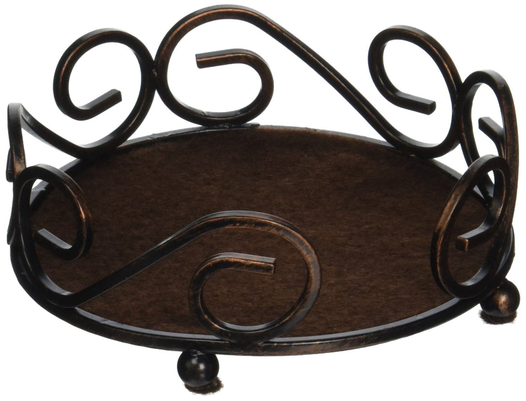 Thirstystone Round Scroll Coasters Holder, Bronze