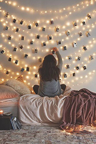 66 Ft 200LEDs Waterproof Starry Fairy Copper String Lights USB Powered for Bedroom Indoor Outdoor Warm White Ambiance Lighting for Patio Halloween Thanksgiving Christmas Party Wedding Decor - zingydecor