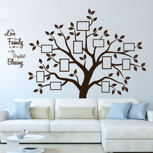 Load image into Gallery viewer, Timber Artbox Beautiful Family Tree Wall Decal with Quote - The Only Décor You Need for Living Room &...