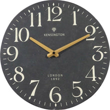 Load image into Gallery viewer, NIKKY HOME British Style Silent Quartz Analog Round Wall Clock 12'' x 12'' Black - zingydecor