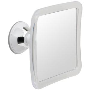 Mirrorvana Fogless Shower Mirror with Lock Suction-Cup, 6.3 x 6.3 Inch - zingydecor
