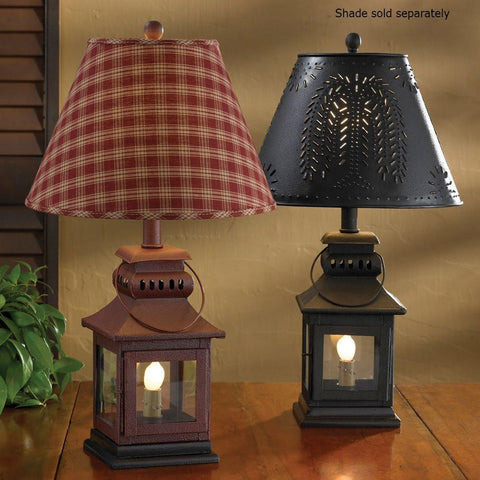 Image of Black Iron Lantern Lamp - zingydecor