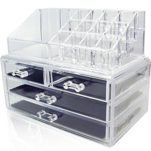 Acrylic Makeup Jewelry Cosmetic Organizer - Great for Organizing your Lipstick Nail Polish Makeup... - zingydecor