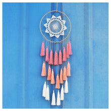 Load image into Gallery viewer, Artilady 8inch handmade tassel dream catcher wall decoration (pink) - zingydecor