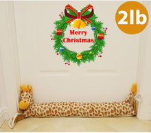 "Load image into Gallery viewer, 36"" Giraffe Door Draft Stopper 2lb Christmas Doors Snake Draft Dodger Reduce Cord Air, Wind, Light Blocker - zingydecor"